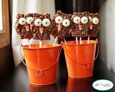 Cute owl krispie treats
