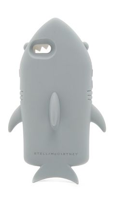 A soft silicone Stella McCartney phone case in the shape of a shark. Formfitting construction with button, cord, and camera access. Inspektor Gadget, Iphone 6, Iphone Cases, Geek Chic, Devil, Stella Mccartney, Lust, Shark, Cord