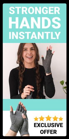 Discover stronger hands in minutes with Onecompress Performance Compression Gloves. Great for all ages. Arthritis Gloves, Arthritis Hands, Arthritis Remedies, Cough Remedies, Sore Hands, Tendinitis, Strong Hand, Natural Health Remedies, Health And Wellbeing