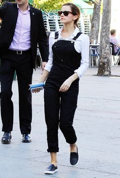 Emma Watson !!! Shes totally rocking this overall hahaha love it