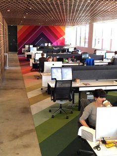 Enterprise inspiration - floor pattern up wall