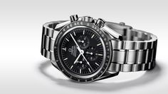 OMEGA Speedmaster Professional Chronograph Watch with Stainless Steel Bracelet. Omega Seamaster, Speedmaster Professional, Bracelet Nato, Swiss Army Watches, Expensive Watches, Nato Strap, Luxury Watches For Men, Watches Online, Cool Watches