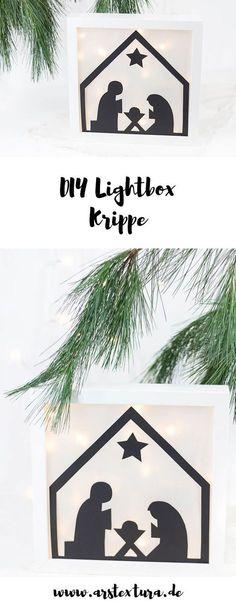 DIY Lightbox Krippe zu Weihnachten basteln