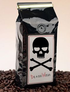 Death Wish Coffee - http://www.prettydarncool.co.za/cool-food/death-wish-coffee - The strongest coffee in the world. Guaranteed! Dark, rich, flavorful and highly caffeinated coffee beans! Beware! 1 lb. Bags. Ground or Whole Bean.