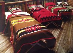 More Pendelton blankets! Need to inject more of this native inspiration into the cottage decor.