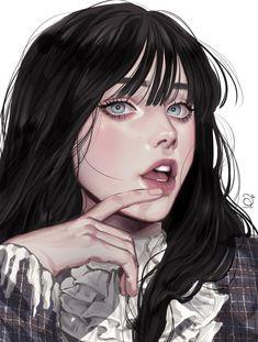Digital Art Anime, Digital Art Girl, Anime Art Girl, Manga Art, Pretty Art, Cute Art, Wow Art, Art Reference Poses, Portrait Art