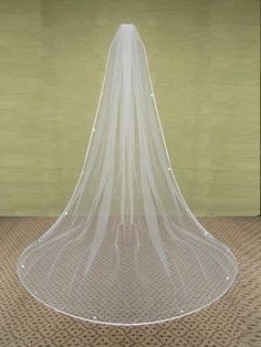 New White/Ivory Wedding Bridal Long Veil Cathedral 250-270cm With Comb