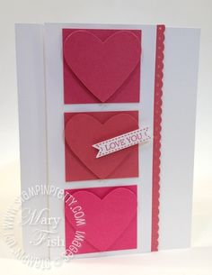 This beautiful card done by Mary Fish of Stampin' Pretty highlights the beautiful new SU! In Color Primrose Petals.