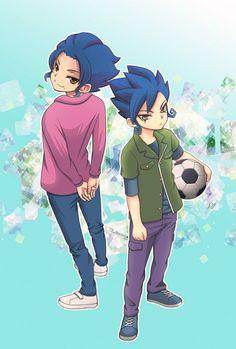 Tsurugi Brothers - Inazuma Eleven GO - Image - Zerochan Anime Image Board Victor Blade, Litle Boy, Hey Brother, Inazuma Eleven Go, Fictional Characters, Pear, Image, Random, Videos