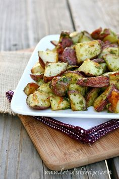 Roasted Pesto Potatoes on MyRecipeMagic.com