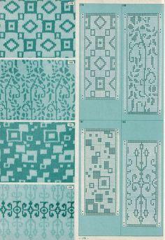 Square fair isle pattern