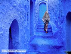 blue town in morocco
