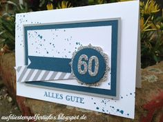 Auf die Stempel, fertig, los!: Karte zum 60. Geburtstag, Stampin up!