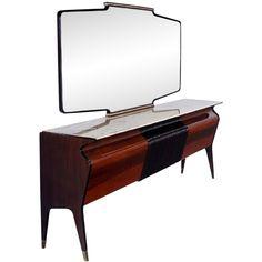 Interior design   decoration   home decor   furniture   Osvaldo Borsani Sideboard with Mirror