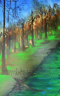 Artworks by Denise Anzellotti: Fallen log...