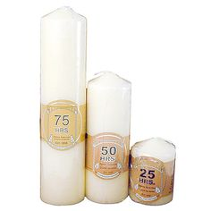 Crafty Jungle sells a varied selection of church candles with different burn times, perfect for a wedding or other celebration or just for use around the home. Available at http://craftyjungle.co.uk/c-165-church-candles.aspx