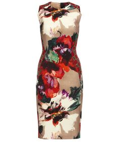 We love the floral print! Dress by Talbot Runhof #dresses #fashion #flowers #engelhorn