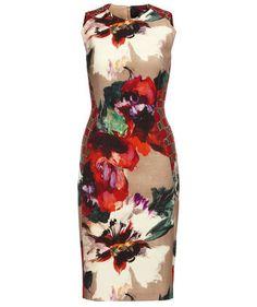 We love the floral print! Dress by Talbot Runhof #dresses #fashion #flowers #engelhorn