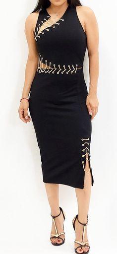 #summer #fashion Black dress and many many lacings