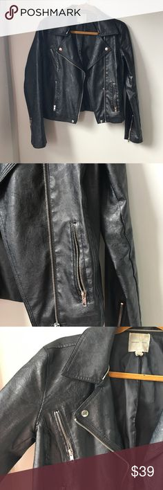 Silence + Noise Faux Leather Jacket Urban Outftter's Silence + Noise Faux Leather Jacket; the staple piece year round for any cool gurl silence + noise Jackets & Coats