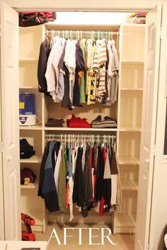 Closet organization!