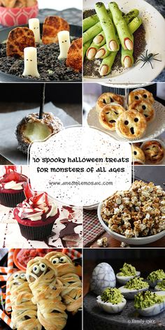 These 10 Spooky Halloween Treats for Monsters of All Ages are sure to be a hit at your Halloween party!