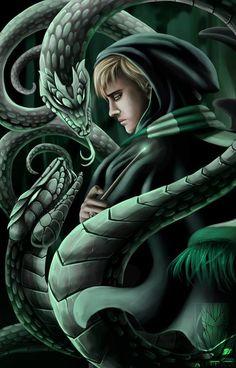 This is gorgeous!! ♥ http://autlaw.deviantart.com/art/Draco-Malfoy-411040907