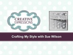 Crafting My Style with Sue WIlson - Gradient Glitter Technique for Creative Expressions - YouTube