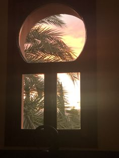 The Sunset just catching the edge of the palm trees, beaming through both the conventional and irregular style windows that can be found all over this stunning home One Degree, New Perspective, Palm Trees, Beams, The Incredibles, Concept, Windows, Tattoo, Sunset