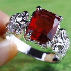 WIN THIS AMAZING RING!! Alluring Engagement Gift Of Love Ruby Spinel Gem