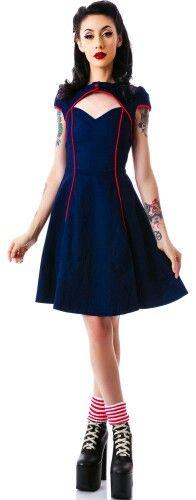 Sailor style dress and shrug