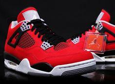 5870f6fb29e Nike Air Jordan 4 IV Retro Toro Bravo 2013 Red Nubuck Raging Bull in  Clothing