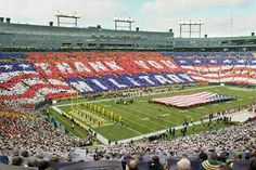 """Packers fans show their military appreciation during the """"Salute to Service"""" card routine, presented by USAA in Green Bay on A Lovely Journey, Appreciation Message, Next Sunday, Salute To Service, Support Our Troops, God Bless America, Veterans Day, Im Trying, Green Bay Packers"""