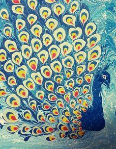 Ebru sanatı su ile yazılan yazıdır. Atölyemizde yapılan bir ebru çalışması