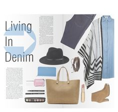 """""""Living In Denim"""" by artsy13-002 ❤ liked on Polyvore featuring LE3NO, McGuire Denim, Jimmy Choo, rag & bone, Zodaca, Victoria Beckham, Smythson, Marc Jacobs and Essie"""