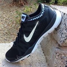 Glitter Nike Shoes - Women's Nike Flex Supreme TR3 w/ Swarovski Crystals