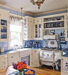 Blue and White Kitchen                                                                                                                                                                                 More