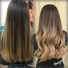 33 trendy ombre hair color ideas of 2019 - Hairstyles Trends Brown Hair With Blonde Ends, Brown To Blonde Ombre, Dyed Blonde Hair, Dye My Hair, Carmel Balayage, Carmel Hair, Ombre Hair Color, Hair Colour, New Hair Look