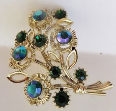 Vintage jewelry necklace brooch by Lisner in by DevineCollectible, $125.00