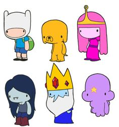 lildoodles:    Lil' Adventure Time: Land of Ooo booster pack!  This pack includes Finn the Human, Jake the Dog, Princess Bubblegum, Marceline the Vampire Queen, The Ice King and Lumpy Space Princess!  Get the stickers!  Finn and Jake  Princess Bubblegum and Marceline  Ice King and Lumpy Space Princess  Collect them all!    Don't forget, from now on all Lil's characters have their own Tumblr at lildoodles.tumblr.com!