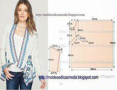Moldes Moda por Medida: CASACO FÁCIL DE FAZER-5