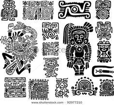 Símbolos aztecas.                                                                                                                                                     Más