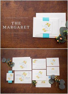 Watercolor Floral Invitation Suite // shopsaltandpaperie.com/pages/bridal-collection