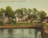 View from South Shore Line Wharf LIVERPOOL Nova Scotia unused vintage postcard