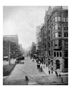 Streetscene, Seattle, Circa 1900 by Asahel Curtis