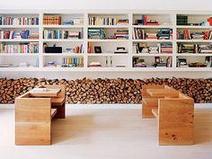 wood + books