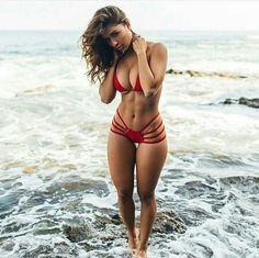 No description #sexy #red #swimwear
