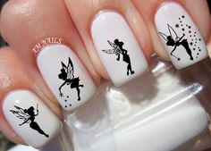 40 Tinkerbell Fairy Nail Decals by AMnails on Etsy