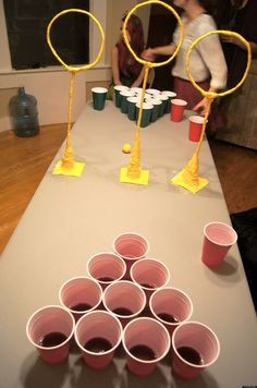 Quidditch Pong Is A Thing... And this will be a game at our July 4th Party!!!