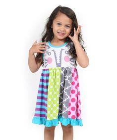 Love this Blue Woodland Friends Circus Tiger Dress - Toddler & Girls on #zulily! #zulilyfinds